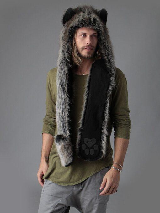 écharpe de loup gris